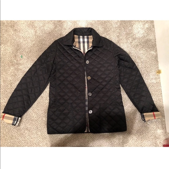 Authentic Kids Burberry Black Quilted Jacket